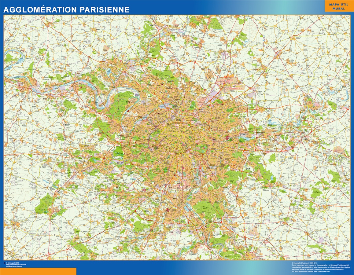 carte agglomeration parisienne