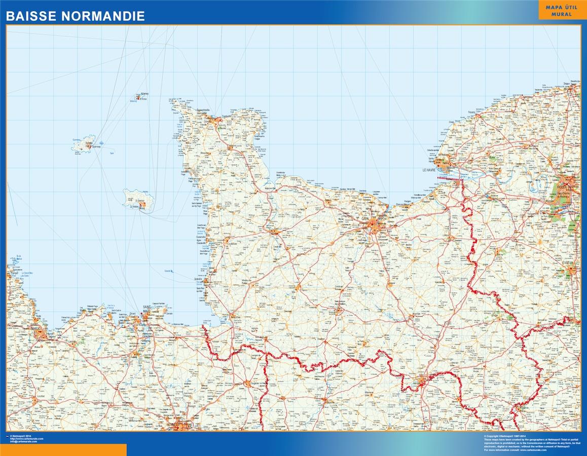 Carte Normandie Détaillée Gratuite | tonaartsenfotografie