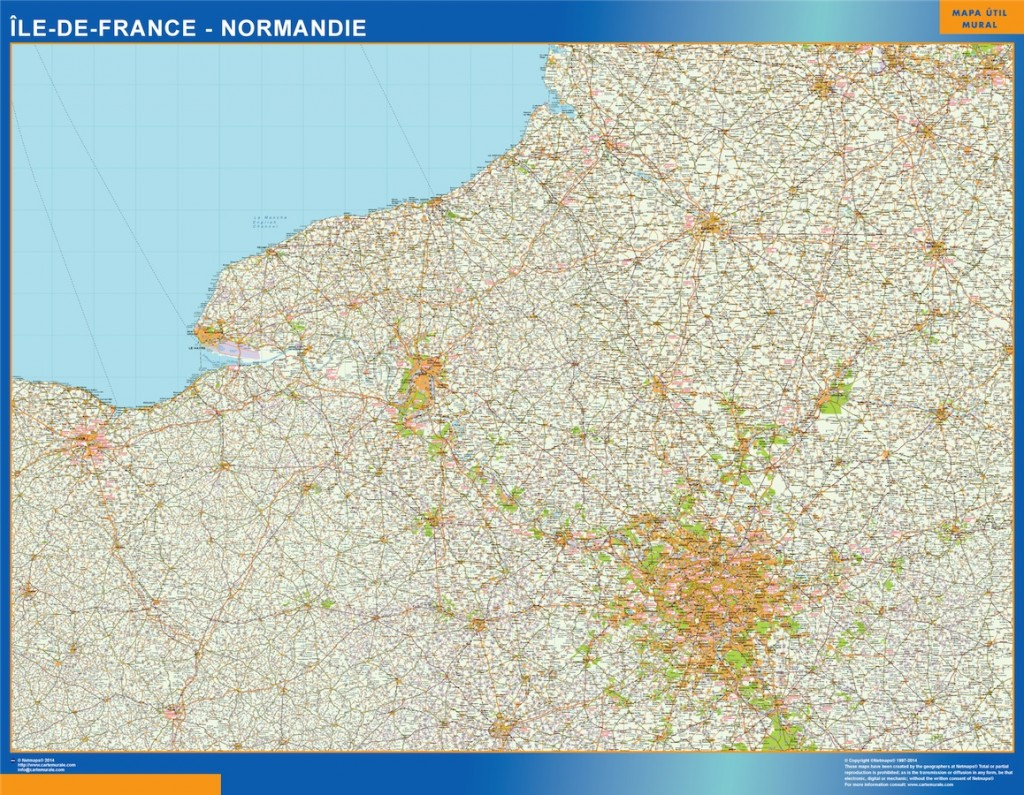 carte ile de france normandie