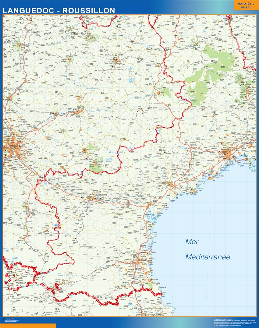 Carte Languedoc Roussillon Ou Le Plan Carte Languedoc Roussillon