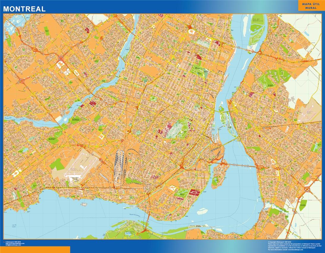 Choisissez carte montreal   de la collection Cartes du Monde