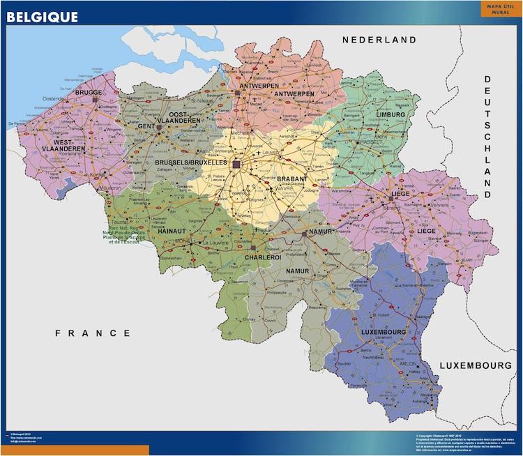 Carte Belgique Villes.Vous Cherchez Carte Belgique Murale Ou Le Plan Belgique
