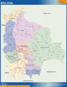 carte murale bolivie