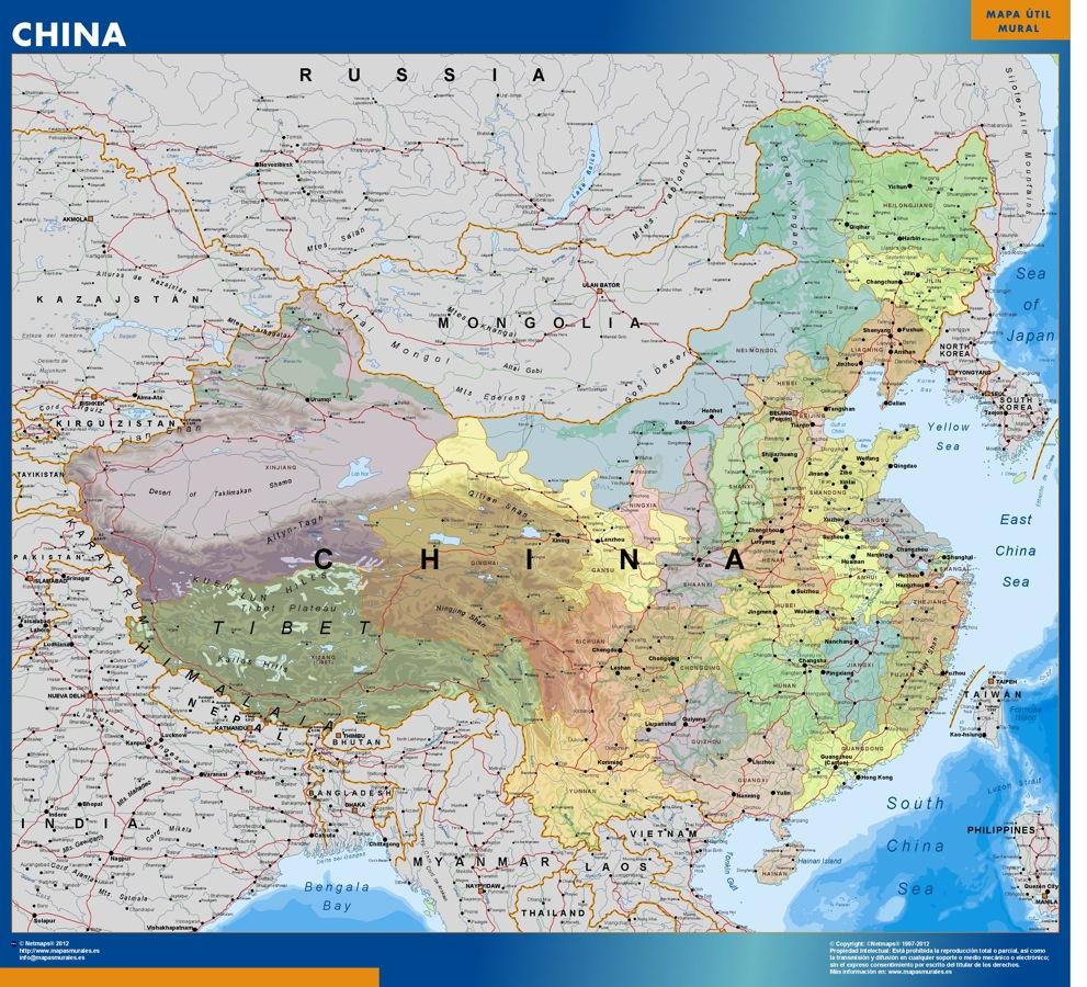 Vous cherchez carte murale chine ou le plan carte murale chine