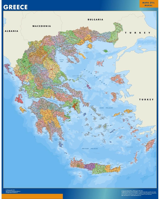 carte murale grece