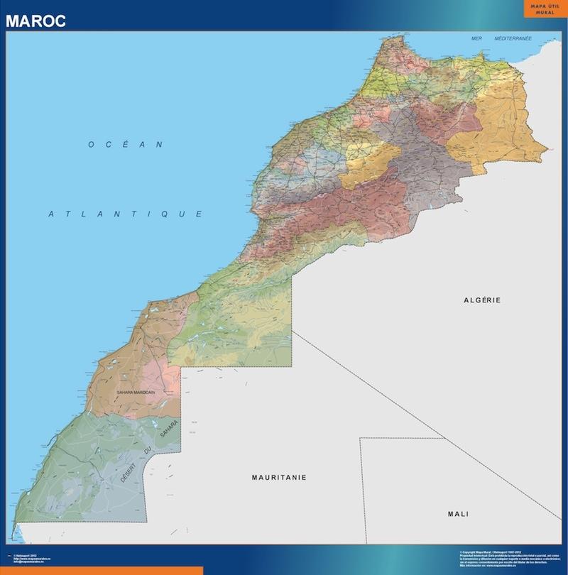 carte murale maroc