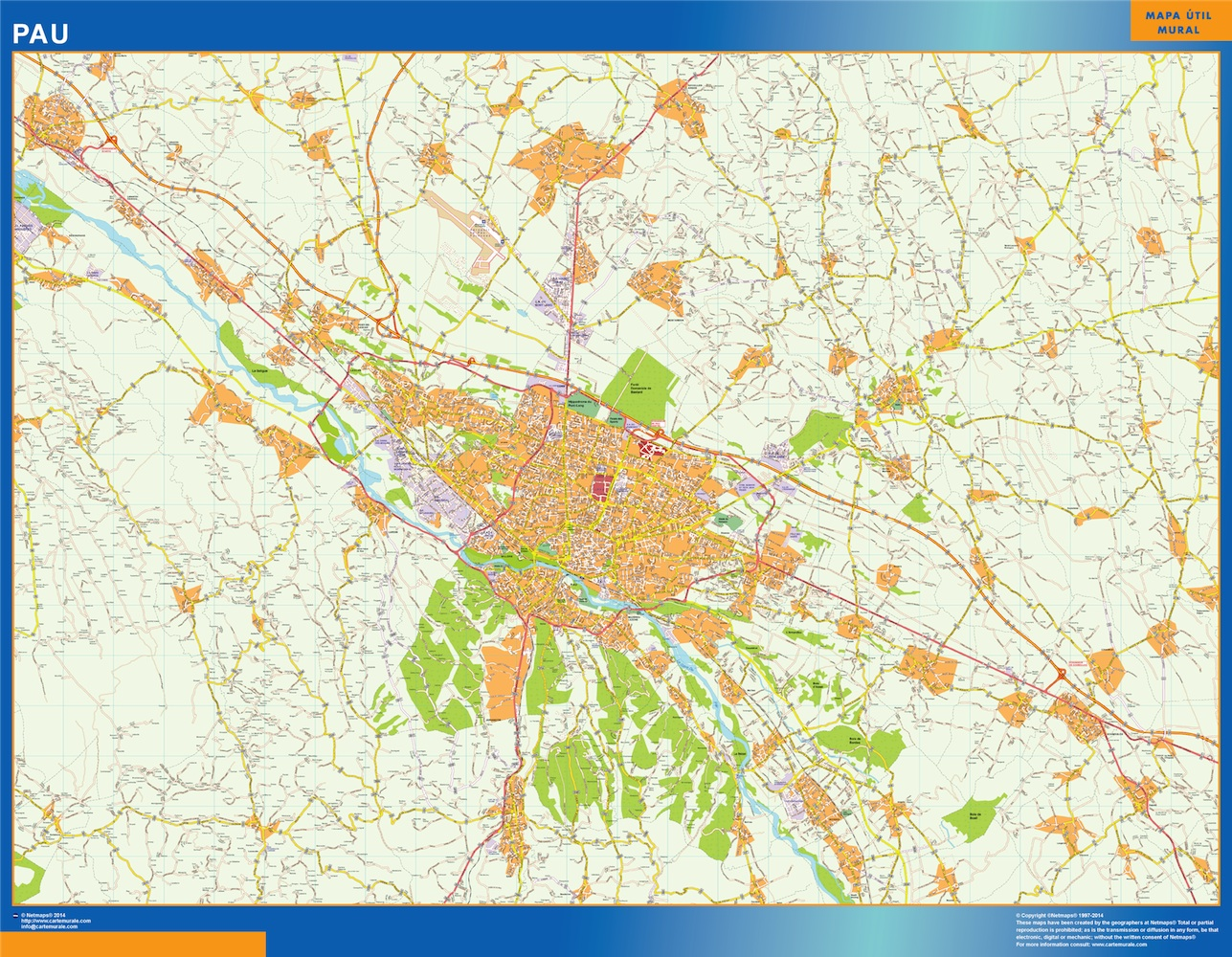 Carte Routiere Bordeaux Pau.Carte Pau Ou Le Plan Carte Pau