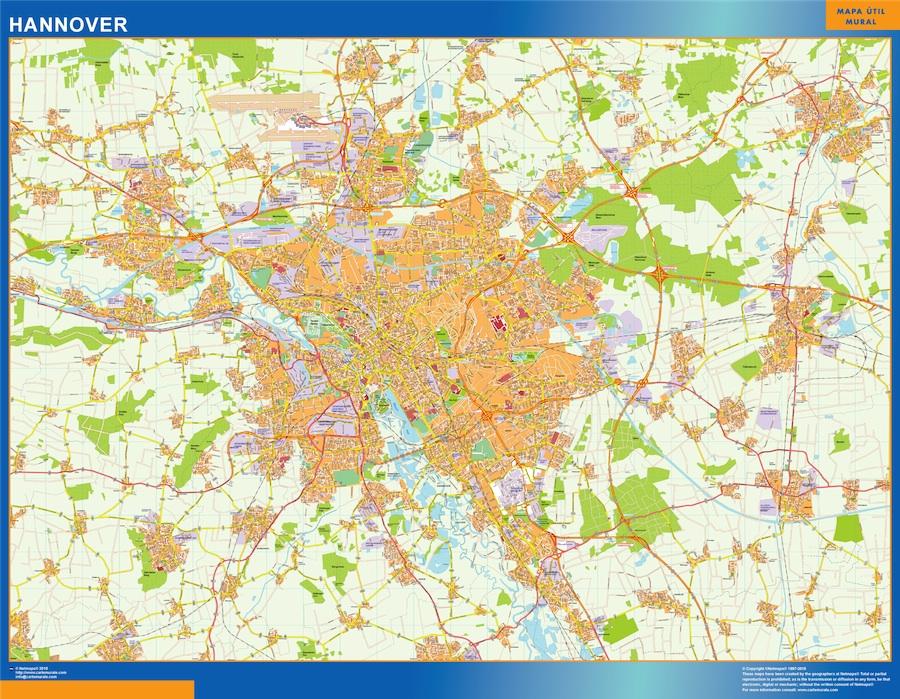Carte Allemagne Hannover.Cartes Villes Europe Cartesmurales Fr Part 19