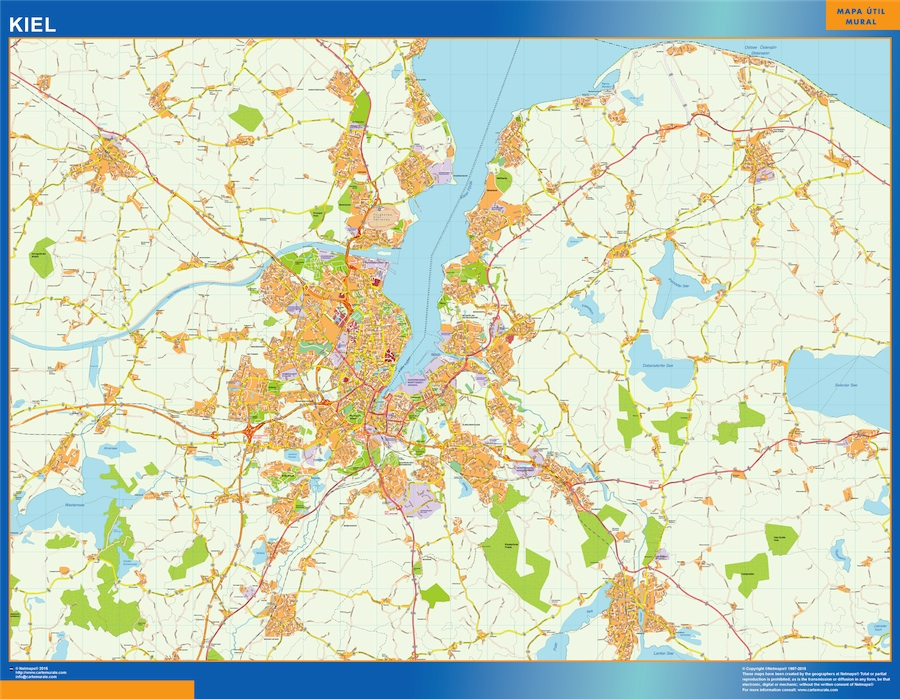 Carte Allemagne Kiel.Kiel Carte Ou Le Plan Kiel Carte