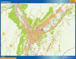 carte murale grenoble