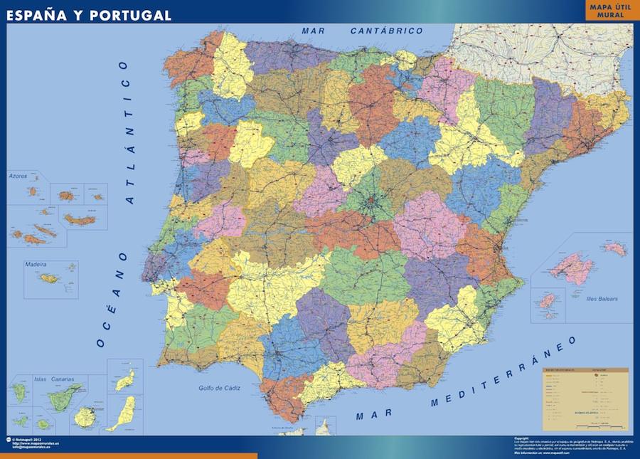 Carte Espagne Nord Est.Cartes Espagne Cartesmurales Fr