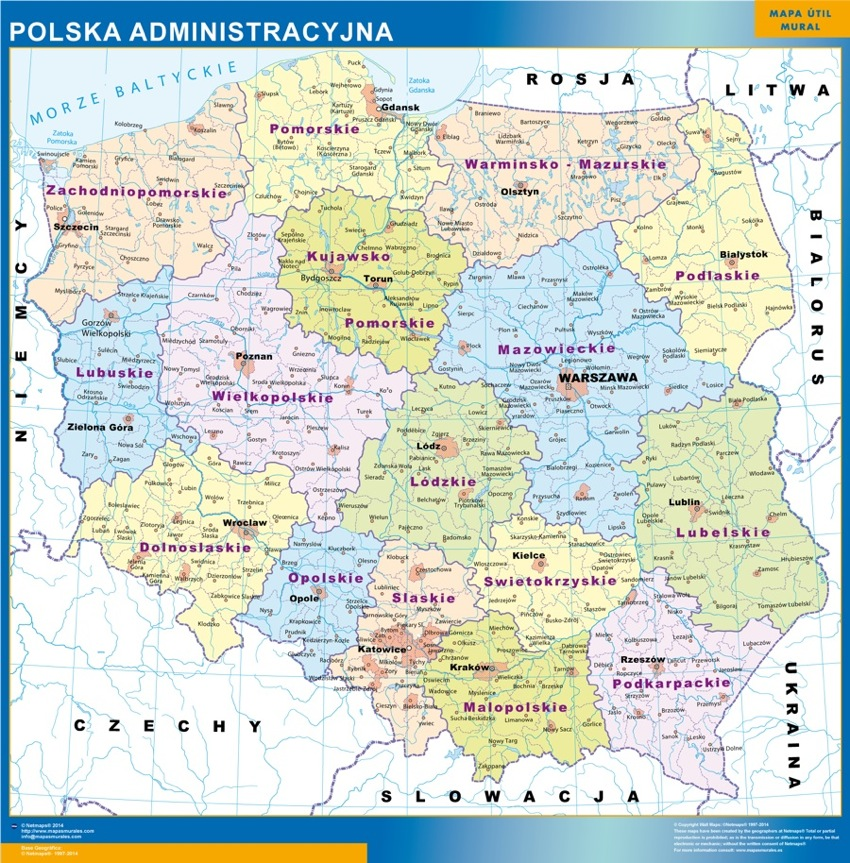 Carte Pologne