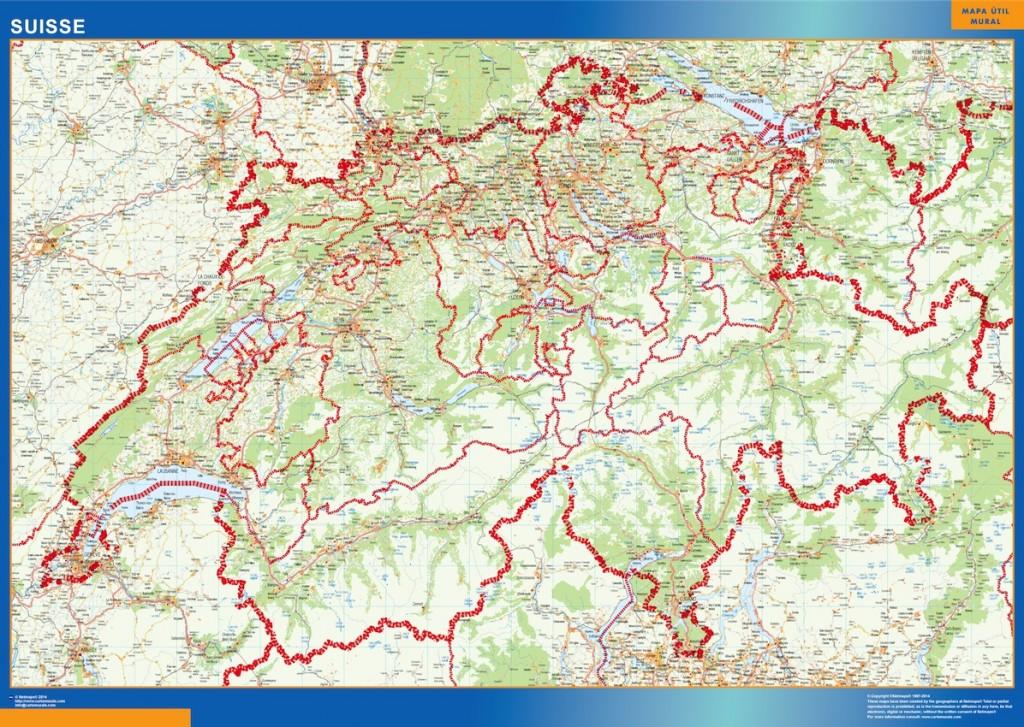 Carte Suisse routière