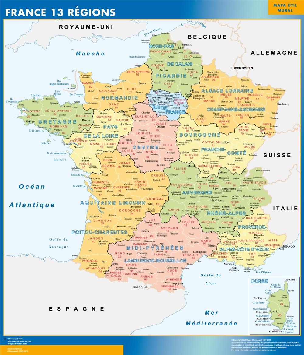Carte Geographique Avec Les  Plus Grande Ville De France