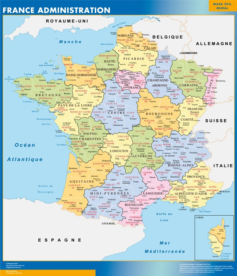 Cartes France Murales | Cartes Murales France