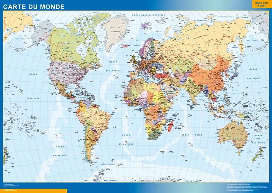 Cartes Monde et France Murales