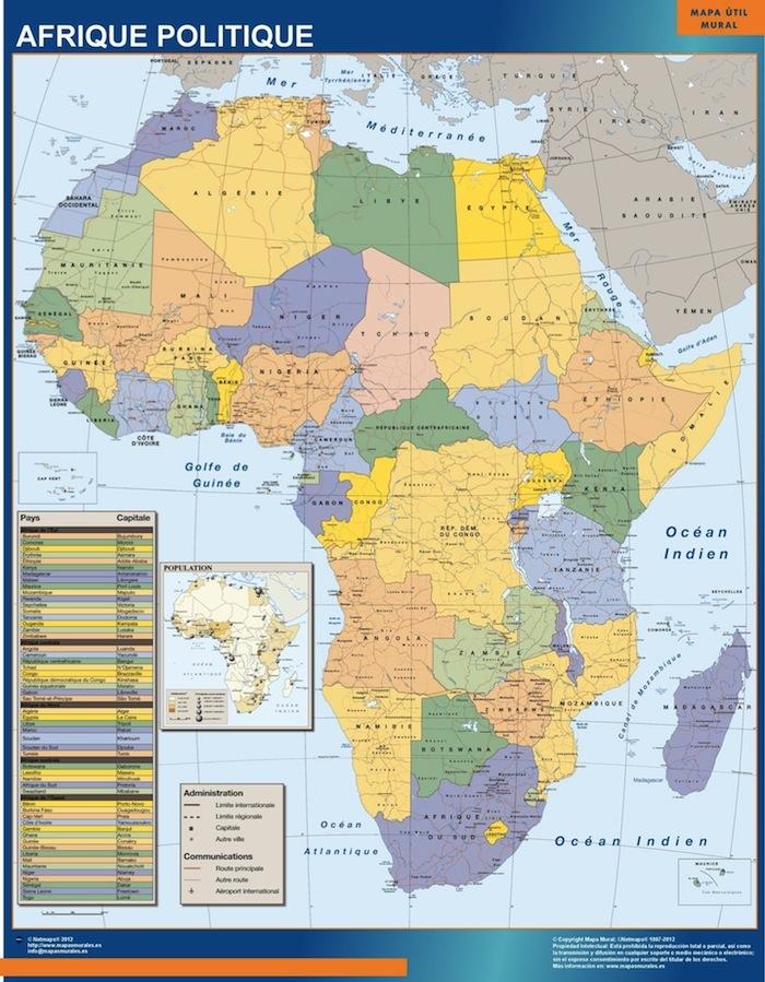 Carte Afrique Politique