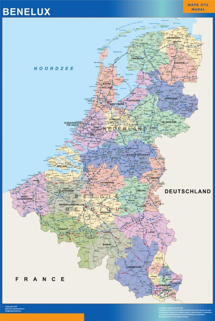 Carte Benelux