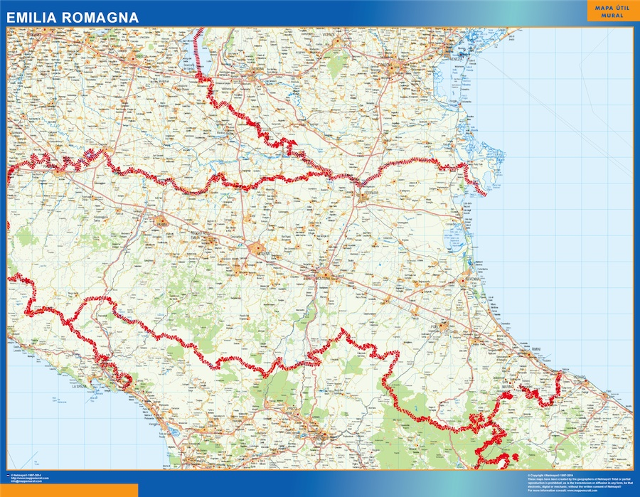 Carte Italie Emilia Romagna.Carte Emilia Romagna Italie Ou Le Plan Carte Emilia Romagna