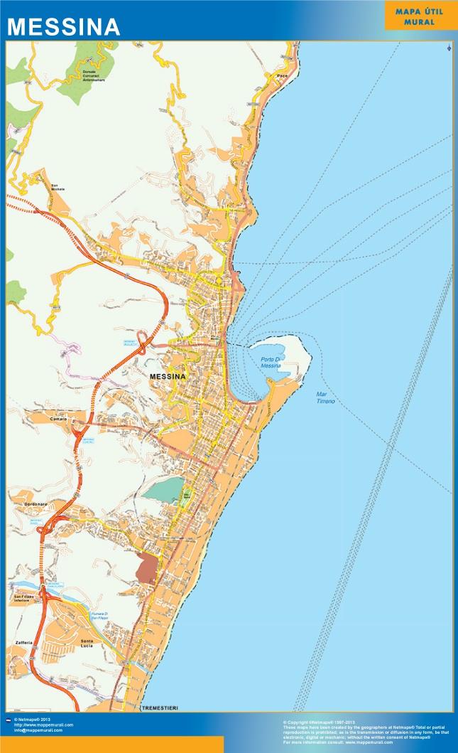 Carte Messina ou le plan Carte Messina