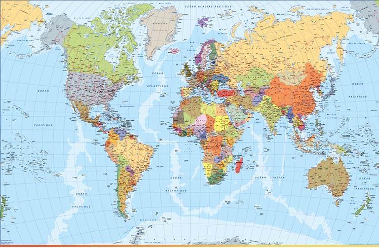 Carte monde 2018