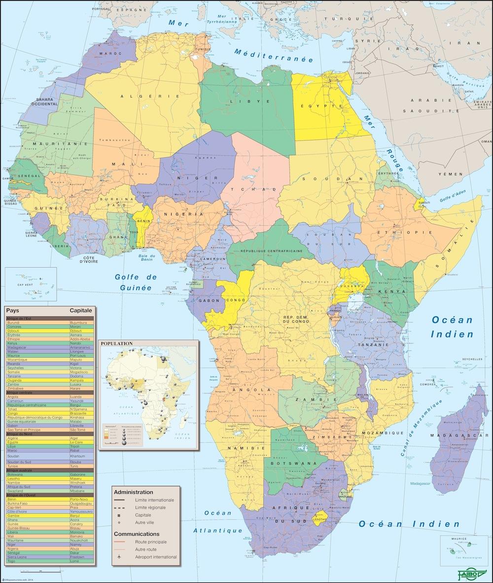 Afrique carte francais