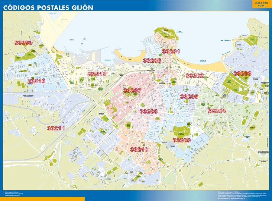 Carte Espagne Gijon.Cartes Asturies Espagne Cartesmurales Fr