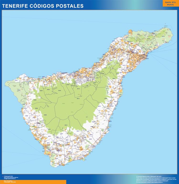 Carte Tenerife.Cartes Santa Cruz De Tenerife Espagne Cartesmurales Fr