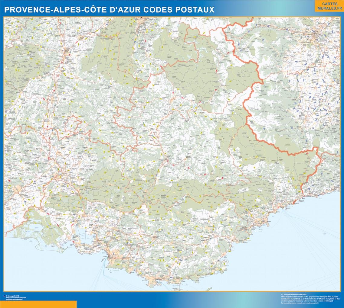 e Provence-alpes cote azur codes postaux