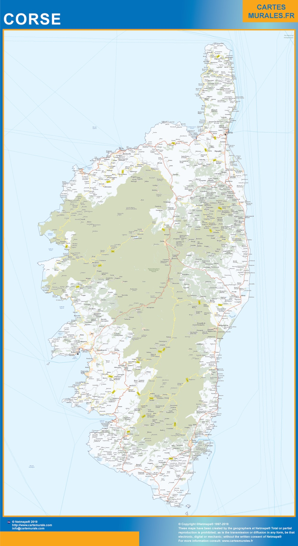 Carte Region Corse