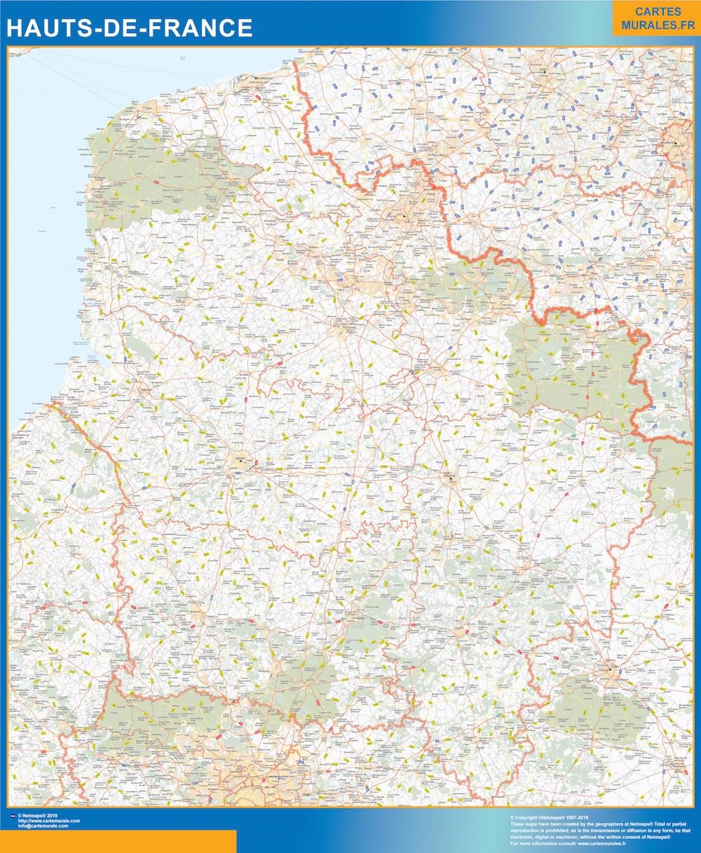 Carte Region Hauts de France
