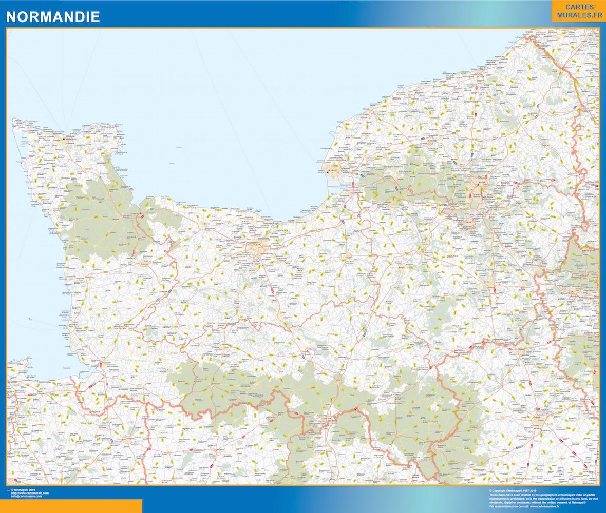 Carte Region Normandie