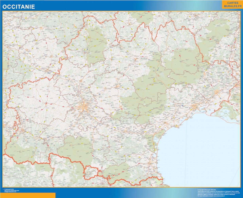 Carte Region OccitanIe