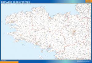 Region Bretagne codes postaux