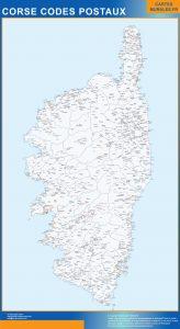 Region Corse codes postaux