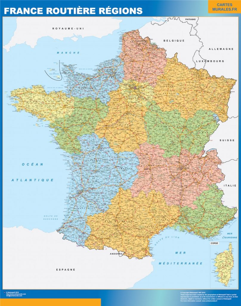 Carte Alsace Plastifiee.Cartes France Cartesmurales Fr