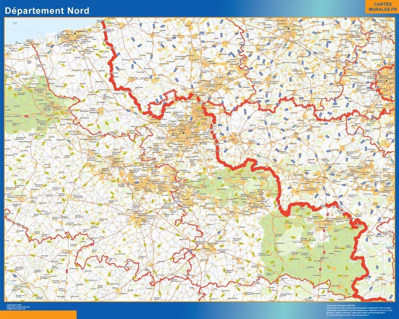 Carte departement Nord